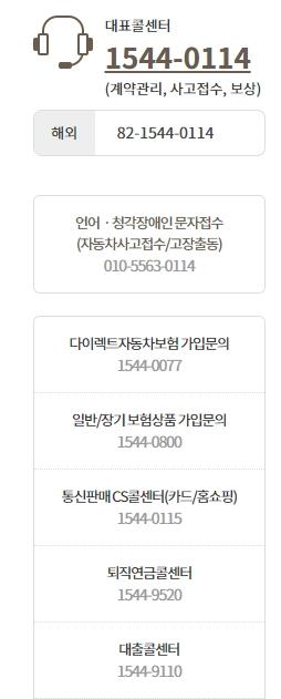kb자동차보험 전화번호 총정리